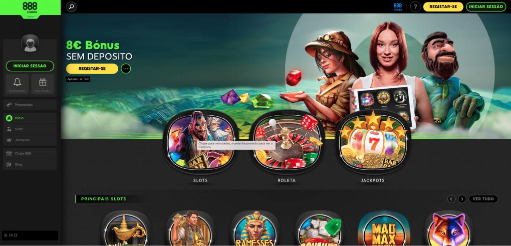 Website da 888 Casino: Area de casino online