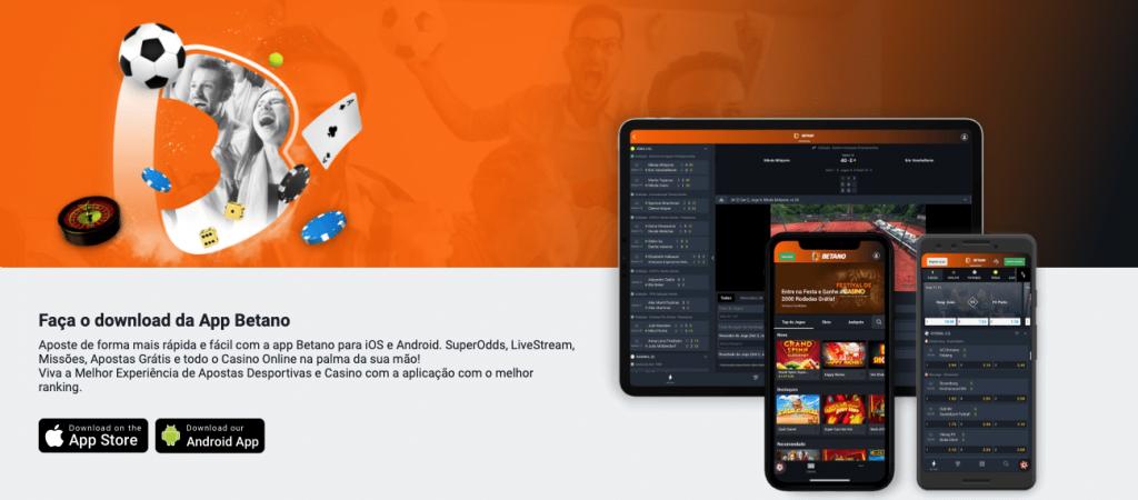 Betano App Móvel: Disponível para Android e IOS